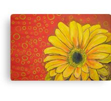Gerber Daisy with Drab Green Os Canvas Print