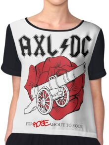 "Axl/DC ""For Rose About To Rock"" Chiffon Top"