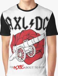 "Axl/DC ""For Rose About To Rock"" Graphic T-Shirt"