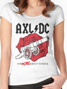 "Axl/DC ""For Rose About To Rock"" Women's Fitted Scoop T-Shirt"