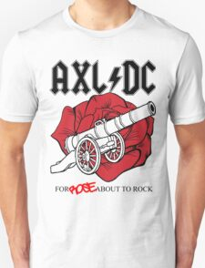 "Axl/DC ""For Rose About To Rock"" Unisex T-Shirt"