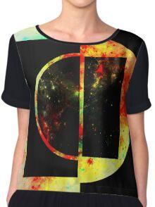 Geometric Space Chiffon Top