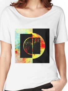 Geometric Space Women's Relaxed Fit T-Shirt