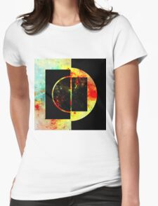 Geometric Space Womens Fitted T-Shirt