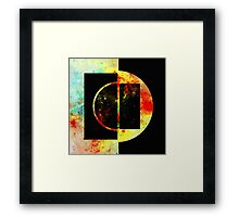 Geometric Space Framed Print