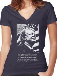 JIMMY CARTER-2 Women's Fitted V-Neck T-Shirt