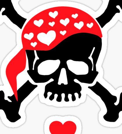 Love & Crossbones Sticker