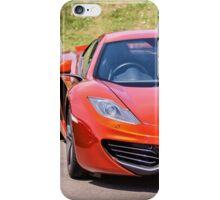Orange Sports car iPhone Case/Skin