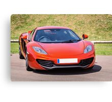 Orange Sports car Canvas Print