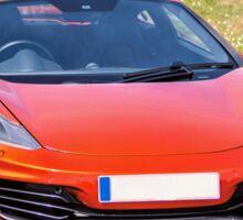 Orange Sports car Sticker