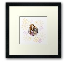 Let your heart be your compass. Framed Print