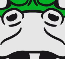 face head angry dangerous snake constrictor comic cartoon design Sticker