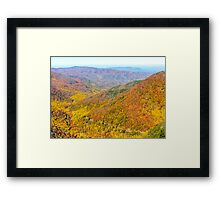 Chimney Tops Summit Framed Print