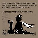 The little prince and the fox - QUOTE - sepia by ARTito