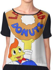 The Simpsons - Lard Lad Donuts T-Shirt Chiffon Top
