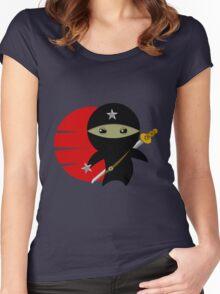 Ninja Star - Darker Version Women's Fitted Scoop T-Shirt