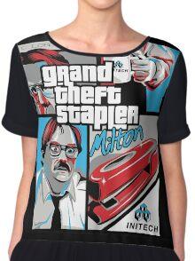 Grand Theft Stapler Chiffon Top