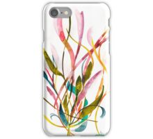 Unknown Flower 3 - Small Abstract Landscape, watercolor, ink & pencil on paper iPhone Case/Skin