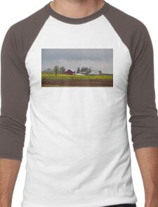 Golden Meadow, Amish Country, Ohio. Men's Baseball ¾ T-Shirt