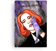 "Scully ""Sure.Fine.Whatever."" Canvas Print"