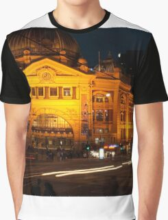 Flinders Street Station, Melbourne [r] Graphic T-Shirt