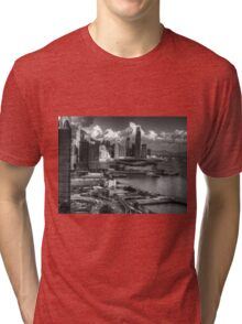0219 Hong Kong Harbour BW Tri-blend T-Shirt
