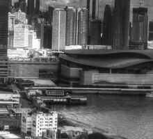 0219 Hong Kong Harbour BW Sticker
