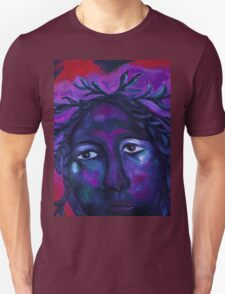 Mother Watching All - Crimson & Violet Compassion  Unisex T-Shirt
