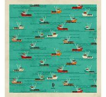 Fishing Trawlers on The Thames Estuary Photographic Print