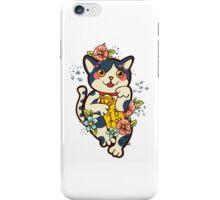 Happy Japanese cat Maneki-neko. Traditional mascot  iPhone Case/Skin