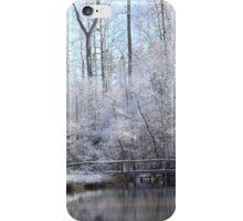 snow covered walk bridge iPhone Case/Skin