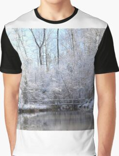 snow covered walk bridge Graphic T-Shirt