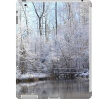 snow covered walk bridge iPad Case/Skin