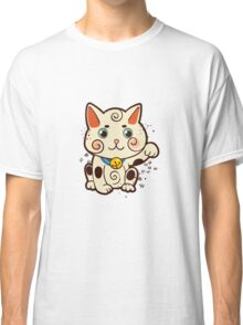 Lucky Japanese cat Maneki-neko. Traditional mascot  Classic T-Shirt