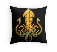 Golden Kraken Sigil Throw Pillow