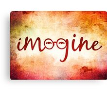 Imagine - John Lennon Tribute Artwork Canvas Print