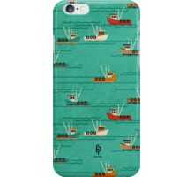 Fishing Trawlers on The Thames Estuary iPhone Case/Skin