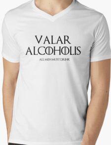 valar alcoholis Mens V-Neck T-Shirt