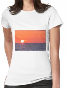 Orange sunset Womens Fitted T-Shirt