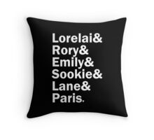 Gilmore Girls - Lorelai & Rory & Emily & Sookie & Paris | Black Throw Pillow