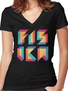 Fisica Women's Fitted V-Neck T-Shirt