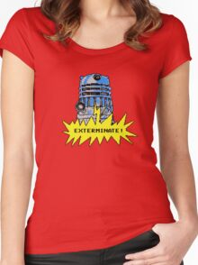 Time And Relative Pixels: Dalek Women's Fitted Scoop T-Shirt