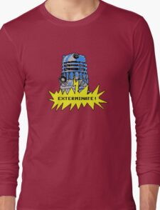 Time And Relative Pixels: Dalek Long Sleeve T-Shirt