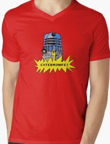 Time And Relative Pixels: Dalek Mens V-Neck T-Shirt