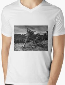 Bicycle At The Tulip Farm Netherlands Mens V-Neck T-Shirt