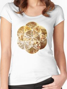Kitten Geometric collage Women's Fitted Scoop T-Shirt