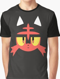 Pokemon Sun / Moon Litten New  Graphic T-Shirt