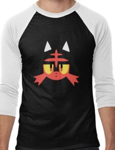 Pokemon Sun / Moon Litten New  Men's Baseball ¾ T-Shirt