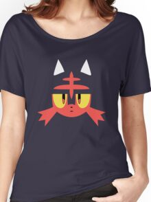 Pokemon Sun / Moon Litten New  Women's Relaxed Fit T-Shirt