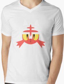 Pokemon Sun / Moon Litten New  Mens V-Neck T-Shirt